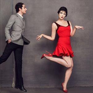 Zac Posen Betty Boop Red Rare Lips Dress 10